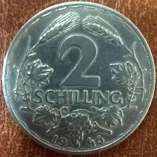 2 Schilling 1946 ALU ANK Nr.33