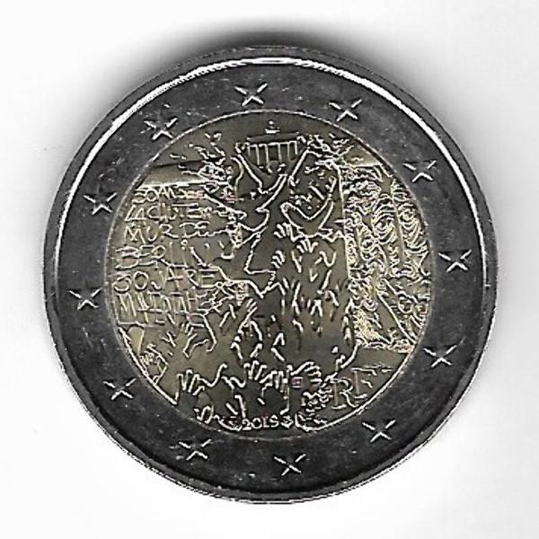 2 Euro Frankreich 2019 Mauerfall