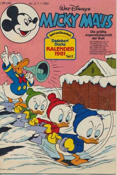 Micky Maus Nr. 2/1981