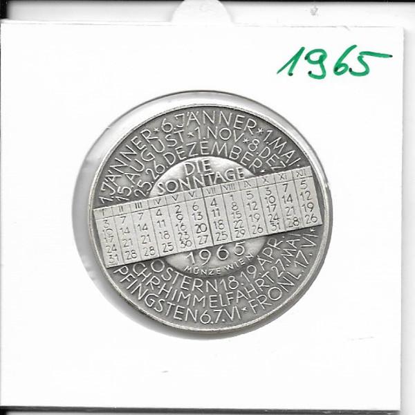 Kalendermedaille Jahresregent 1965 Bronze versilbert