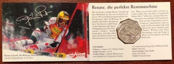 5 Euro Silber 2005 Skisport Renate Götschl ANK Nr.5c