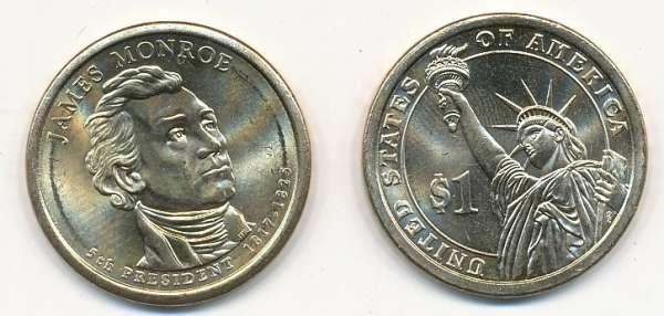 USA 1 Dollar 2008 P James Monroe (5)