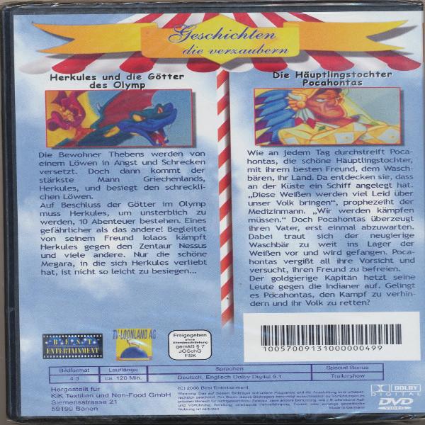Geschichten die verzaubern Herkules und die Götter des Olymp+Die Häuptlingstochter Pocahontas DVD
