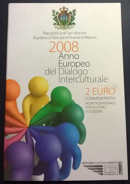 2 Euro San Marino 2008 Kultureller Dialog