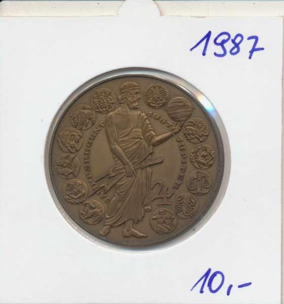 1987 Kalendermedaille Jahresregent Bronze