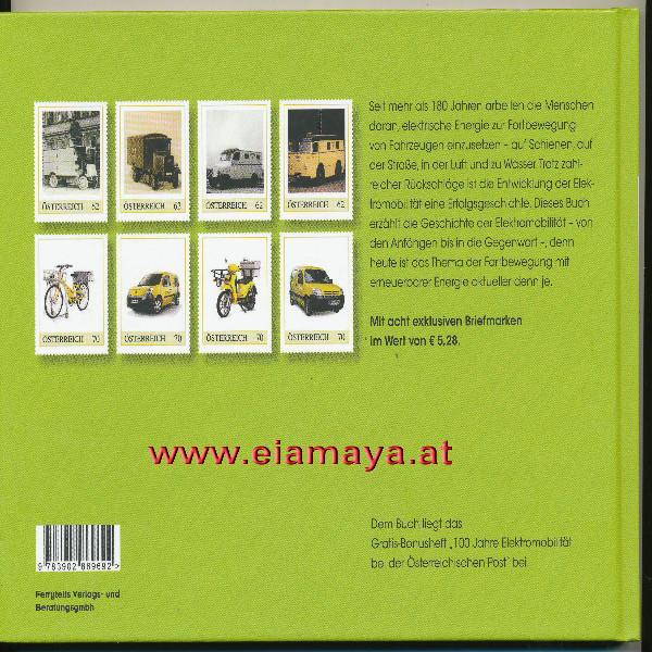 Briefmarkenbuch Die Geschichte der Elektromobilität mit 8 exklusiven Marken