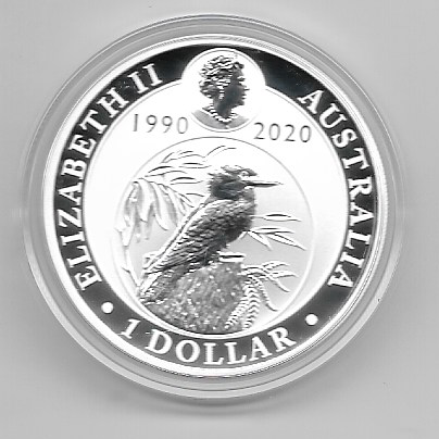 Australien 1 Dollar 2020 Kookaburra 31,1g Silber Unze