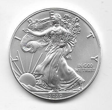 USA 1 Dollar Silber Eagle Unze 2020