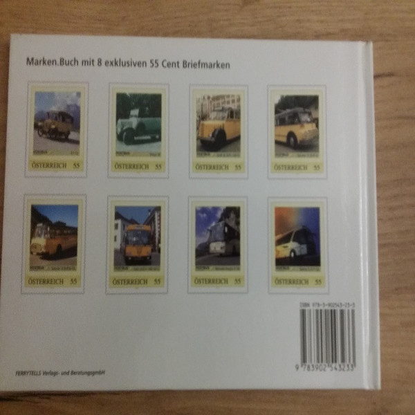 Briefmarkenbuch Hundert Jahre Mobilität Der Postbus von 1907-2007 mit 8 exklusiven Marken