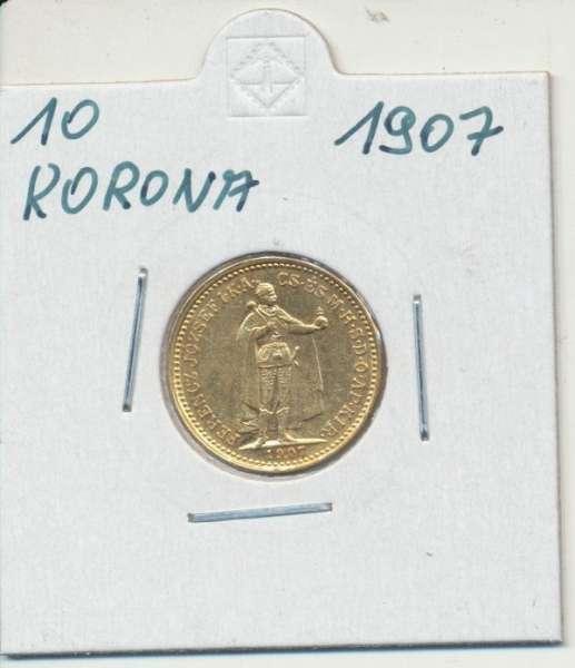 10 Korona 1907 KB Franz Joseph I Gold