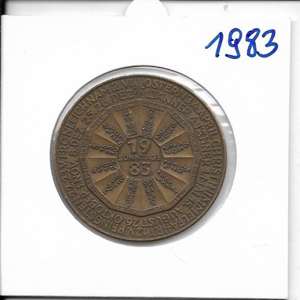 1983 Kalendermedaille Jahresregent Bronze