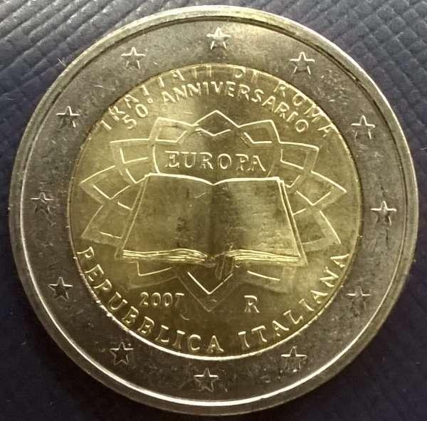 2 Euro Italien 2007 Römische Verträge