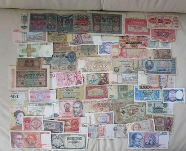 GELDSCHEINE Banknoten WELT 50 Stück gebraucht Lot 28032021/5