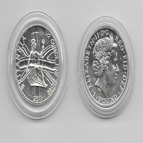 1 Pound Britania 2011 1/2 unze Silber Elisabeth II