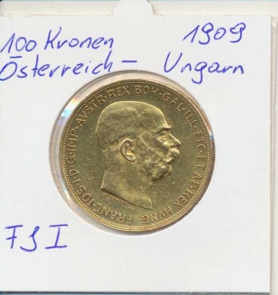 100 Kronen 1909 Original Franz Joseph I