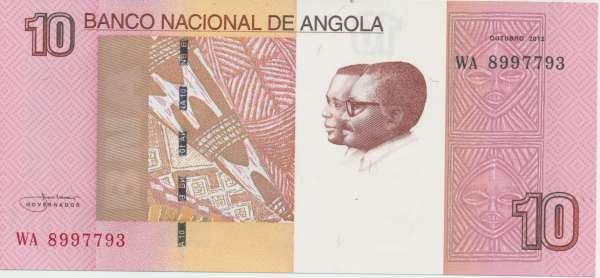 Angola - 10 Kwanzas 2012 UNC - Pick 151b