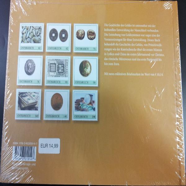Briefmarkenbuch Geschichte des Geldes mit 9 exklusiven Marken