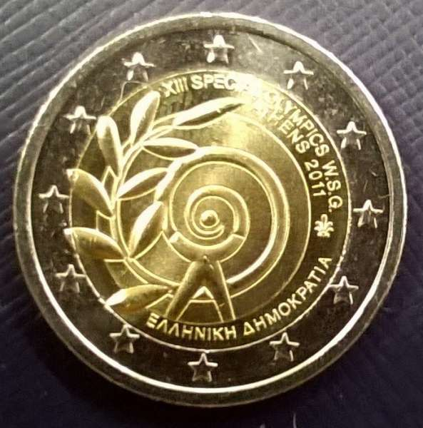 2 Euro Griechenland 2011 Special Olympics
