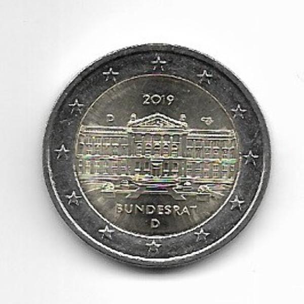 2 Euro Deutschland 2019 Bundesrat