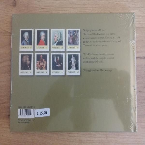 Briefmarkenbuch Mozart sein Leben seine Musik mit 8 exklusive Marken