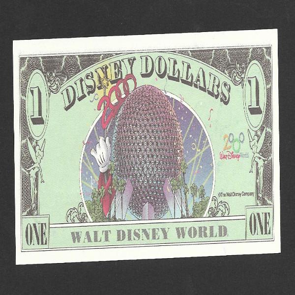"""1 Disney Dollar von 2000 """"MICKEY"""", neu unzirkuliert"""