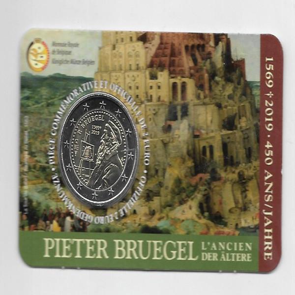 2 Euro Belgien 2019 Coincard Pieter Bruegel