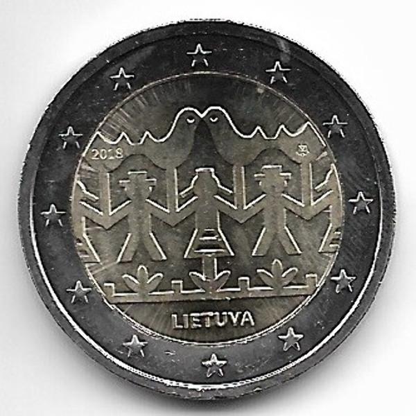 2 Euro Litauen 2018 Gesang- und Tanzfestival