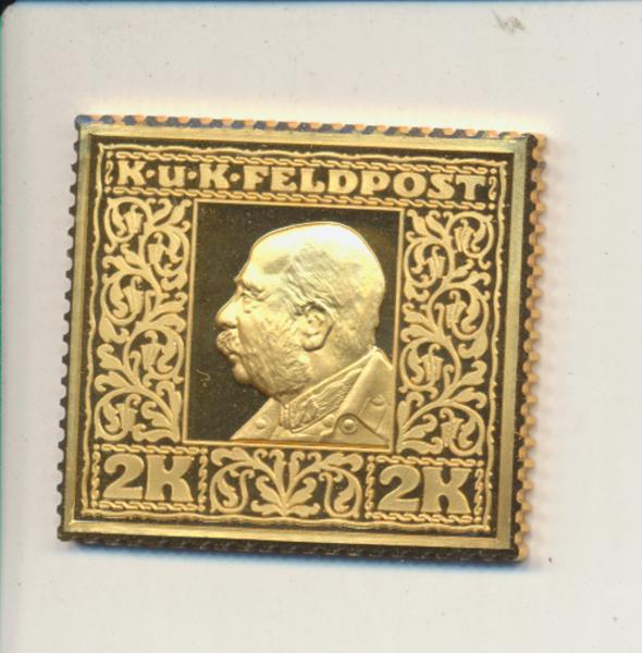 K&K Jubiläums Collection K&K Feldpost FJ1 2 Kronen 1915 K&K Silber Gold