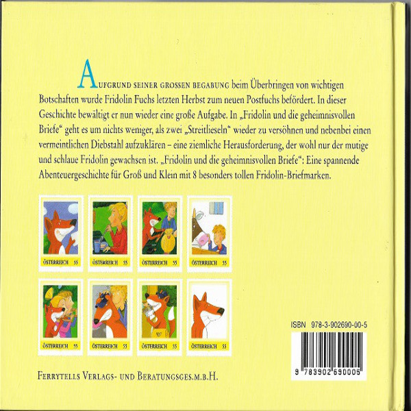 Briefmarkenbuch Fridolin und die geheimnisvollen Briefe mit 8 echten Fridolin Marken