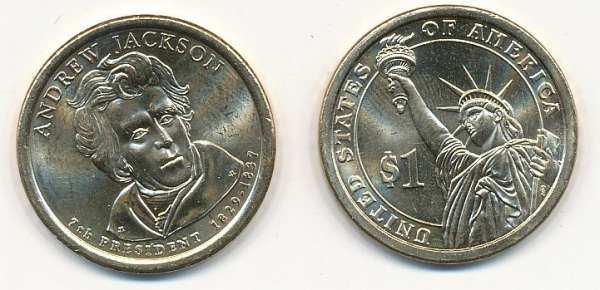 USA 1 Dollar 2008 P Andrew Jackson (7)