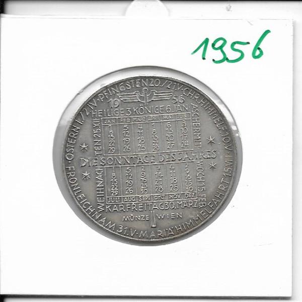 1956 Kalendermedaille Jahresregent Bronze versilbert