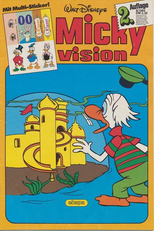 Ehapa Verlag Mickyvision 1984 Heft # 7 Aufkleber Zustand 2