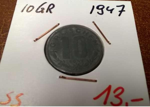 10 Groschen 1947 ANK Nr. 11