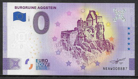 Ank.Nr.36A Burgruine Aggstein Anniversary Sterne Unc 0 Euro Schein 2020-1