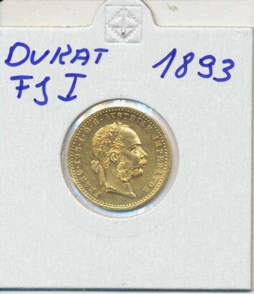1 Dukaten 1893 Original Franz Joseph I