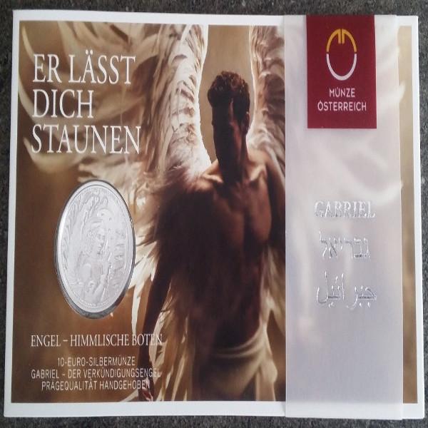 10 Euro 2017 Gabriel Der Verkündigungsengel Silber HgH Ank. Nr.32