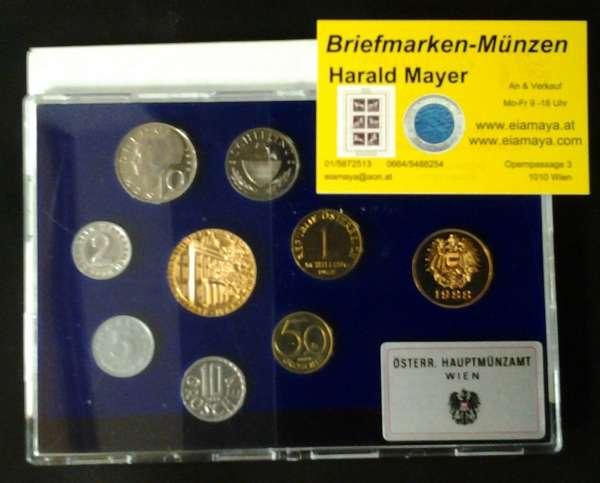 1988 Jahressatz Kursmünzensatz KMS Mintset