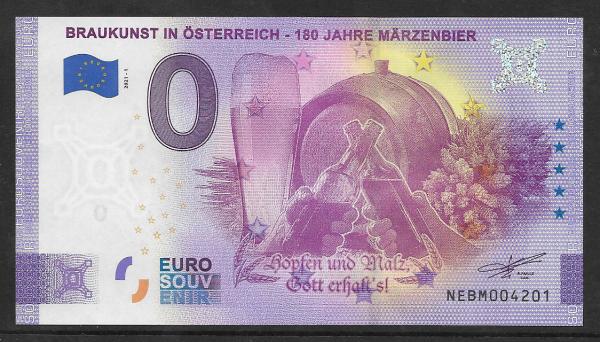 ANK.Nr. Braukunst in Österreich 180 Jahre Märzenbier Unc 0 Euro Schein 2021-1