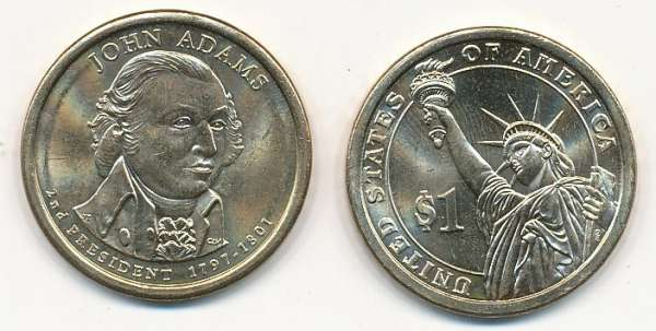 USA 1 Dollar 2007 P John Adams (2)