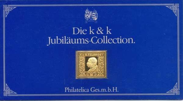 K&K Jubiläums Collection Silber Gold Österreich K&K Feldpost FJ1 2 Kronen 1915