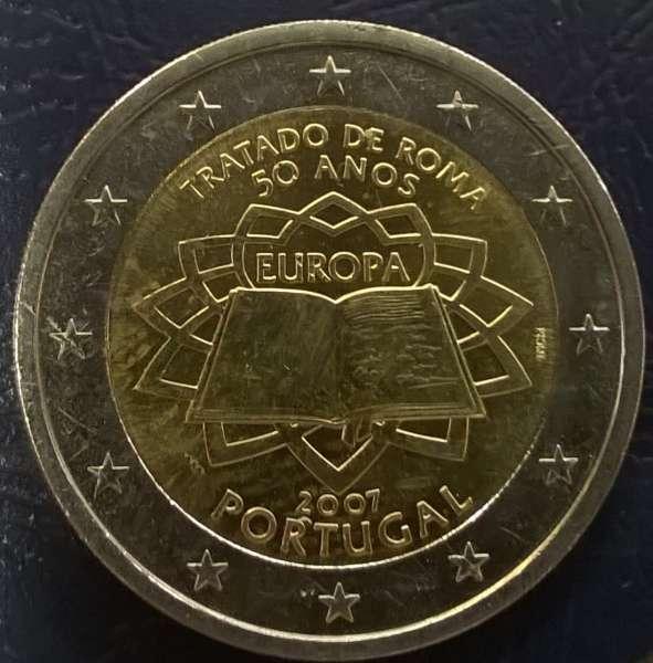 2 Euro Portugal 2007 Römische Verträge