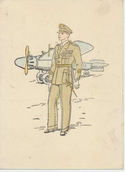 Flugzeug -Soldat- Zeichnung
