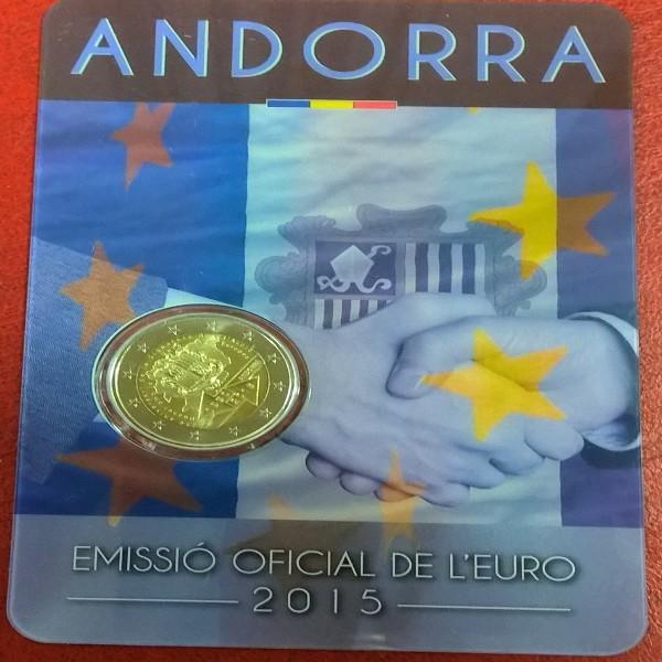 2 Euro Andorra 2015 Zollabkommen