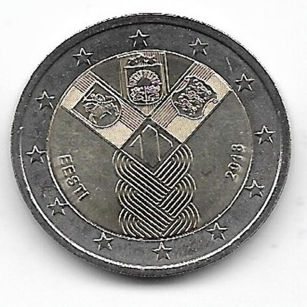 2 Euro Estland 2018 Gemeinschaftsausgabe Unabhängigkeit
