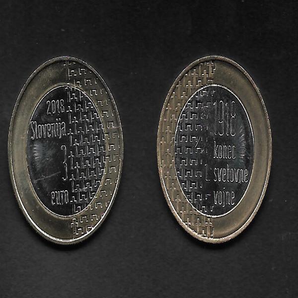 3 Euro Slowenien 2018 100 Jahre Ende des I Weltkrieges