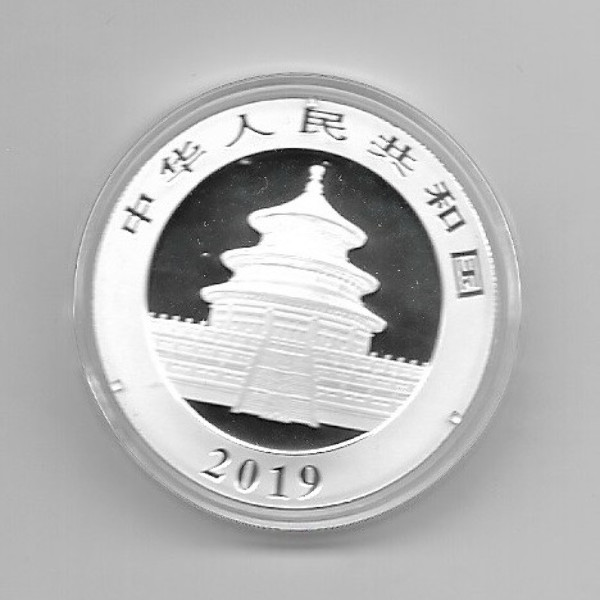 China 10 Yuan 2019 Panda 30g Silber
