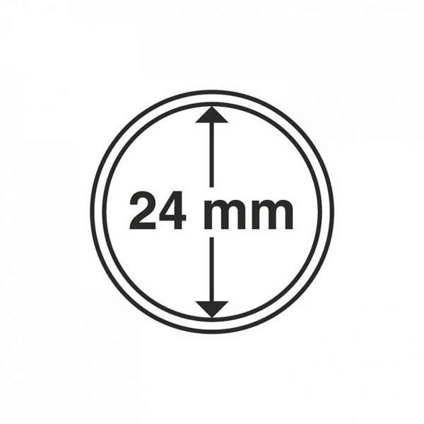 MÜNZKAPSELN CAPS 24 MM, 10 ER PACK