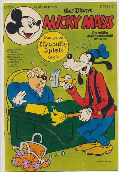 Micky Maus Nr. 52/1974
