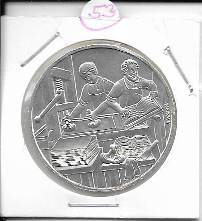 ANK Nr. 53 Buchdruck 1998 500 Schilling Silber Normal