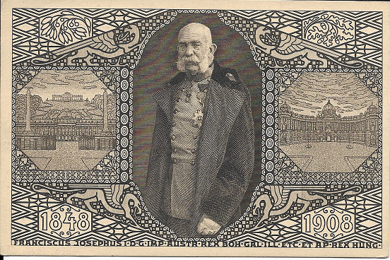 Kaiser Franz Josef 60 Jähriges Regierungs Jubiläum 1848-1908 Viribus Unitis 1914